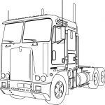 Big Trucks Coloring Pages Inspiration Kenworth K100 Long Trailer Truck Coloring Page