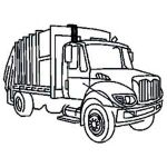 Big Trucks Coloring Pages Inspired Free Truck for Kids Download Free Clip Art Free Clip Art
