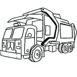 Big Trucks Coloring Pages Inspired Trash Truck Coloring Page – Contentpark