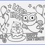 Birthday Coloring Page Awesome Coloring Pages Happy Birthday