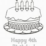 Birthday Coloring Page Best Of Birthday Cake Coloring Pages – Coloring Pages Online