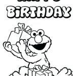 Birthday Coloring Pages for Kids Best Of Sesame Street First Birthday Coloring Pages