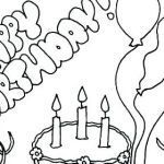 Birthday Coloring Pages for Kids New Funny Happy Birthday Coloring Pages at Getdrawings