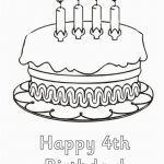 Birthday Coloring Pages for Kids Unique Happy Birthday Pages to Color Elegant Cake Coloring Interesting Cake