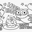 Birthday Printable Coloring Pages Awesome Happy Birthday Coloring Sheet