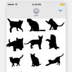 Black Cat Silhouette Brilliant Cat Shadow Stickers On the App Store