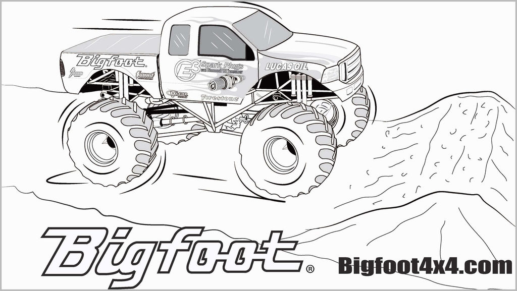 Printable Truck Coloring Pages New Monster Truck Coloring Pages