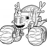 Blaze Monster Truck Coloring Pages Pretty Christmas Monster Truck Coloring Pages