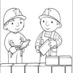 Bob the Builder Coloring Book Inspiration Building Wall Neheimiah for Kids