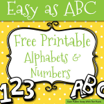 Bubble Letter Alphabet Printable Brilliant Free Printable Letters and Numbers for Crafts