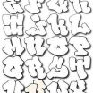 Bubble Tagging Letters Inspired Pin by Ranita Russell On Art