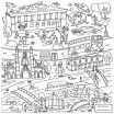 Build A Bear Coloring Pages Inspiring London Eye Coloring Page at Getdrawings