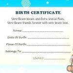 Build A Bear Printable Inspirational Create Your Own Certificate Template