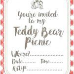 Build A Bear Printable Unique Teddy Template Valentines Day Card Vector with Bear