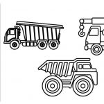 Bulldozer Coloring Pages Inspiration Dump Truck and Crane Truck Colouring Pages Construction Truck
