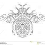 Bumble Bee Coloring Sheet Awesome Bumblebee Coloring Book for Adults Vector Stock Vector