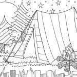 Camping Coloring Pages to Print Marvelous Camping Coloring Page for the Kids Daisy Scout Ideas