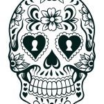 Candy Skulls Pictures Awesome Sugar Skull Template Printable Coloring Pages Skulls Stencils