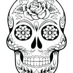 Candy Skulls Pictures Best Sugar Skull Makeup Template Coloring Sheets Blank Pages This is Pic