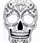 Candy Skulls Pictures Exclusive Five Different Sugar Skull Tattoo Coloring Pages Printable Digital