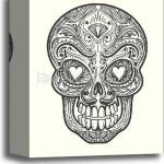 Candy Skulls Pictures Exclusive Sugar Skull Tattoo Line Drawing Rose Tatoo