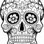 Candy Skulls Pictures Inspiring Dia De Los Muertos Colouring Pages Holiday Madness