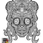 Candy Skulls Pictures Marvelous Beautiful Skull Candy Coloring Pages Nocn
