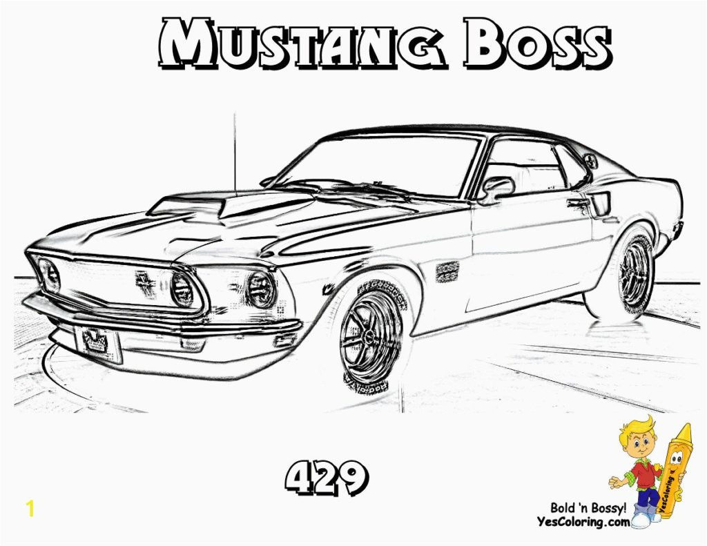 coloring Staggering Muscle Car Coloringes Classic Best Satin Od
