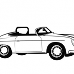 Car Printable Coloring Pages Best Classic Convertible Car Coloring Page