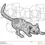 Cat Coloring Pages for Adults Awesome Black and White Hand Drawn Cat In Doodle Animal Paisley Adult Stress