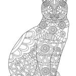 Cat Coloring Pages for Adults Awesome Cat Coloring Page for Adults Sz­nező