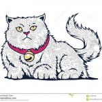 Cat Coloring Pages for Adults Inspirational isolated Cat In White Background Hand Drawn Cat Doodle for Adult
