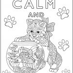 Cat Coloring Pages for Adults Unique Keep Calm and Love Cats Keep Calm & … Adult Coloring Pages