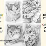 Cat Coloring Pictures Best Best Cat with Flowers Coloring Page – Dazhou