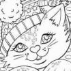 Cat Pictures to Color Inspired Cat to Color New Cat Coloring Pages Color the Christmas Kitty