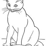 Cats and Kittens Coloring Books Inspired Cat and Kitten Clipart Black and White