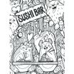 Chef Coloring Page Elegant Sushi Coloring Pages Fun Chef Printable Kawaii Colori – thewestudio