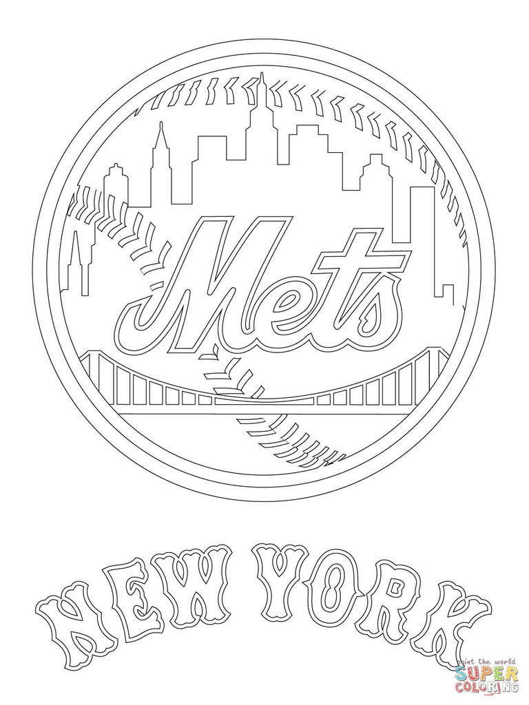 Chicago Cubs Coloring Book Beautiful New York Mets Logo Coloring Page From Mlb Category Select From