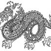 Chinese Dragon Coloring Pages Elegant Dragon Zentangle Coloring Page Chinese New Year