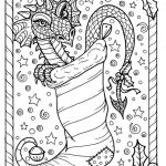 Christmas Color Pages for Adults Creative Dragon Christmas Coloring Page Digital Jpg File Adult Color Fantasy