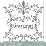 Christmas Coloring Pages Pdf Awesome Holiday Seasons Greetings Coloring Page for Grown Ups Instant