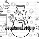 Christmas Coloring Pages Pdf Fresh Personalized Christmas Holiday Coloring Page Placemat Activity