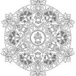 Christmas Mandala to Color Amazing 84 Best Coloring Christmas Mandalas & Wreaths Images In 2019