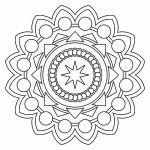 Christmas Mandala to Color Awesome Lovely Stress Coloring Pages