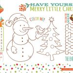 Christmas ornaments Coloring Pages Printable Marvelous Placemat Printables for Christmas Christmas Printables