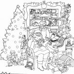 Christmas Pictures to Color Printable Inspiration Coloring Paper for Kids Unique Printable Kids Christmas Coloring