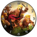 Clash Of Clans Pictures New Huppme Multicolour Clash Clans Round Wooden Wall Clock Buy