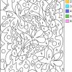 Color by Number Adult Elegant Coloring Pages Cool Designs Color by Number
