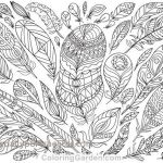 Color by Number Adult Inspired 17 New Feather Coloring Page