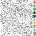 Color by Number Printable for Adults Pretty Nicole S Free Coloring Pages Color by Numbers Strawberries and